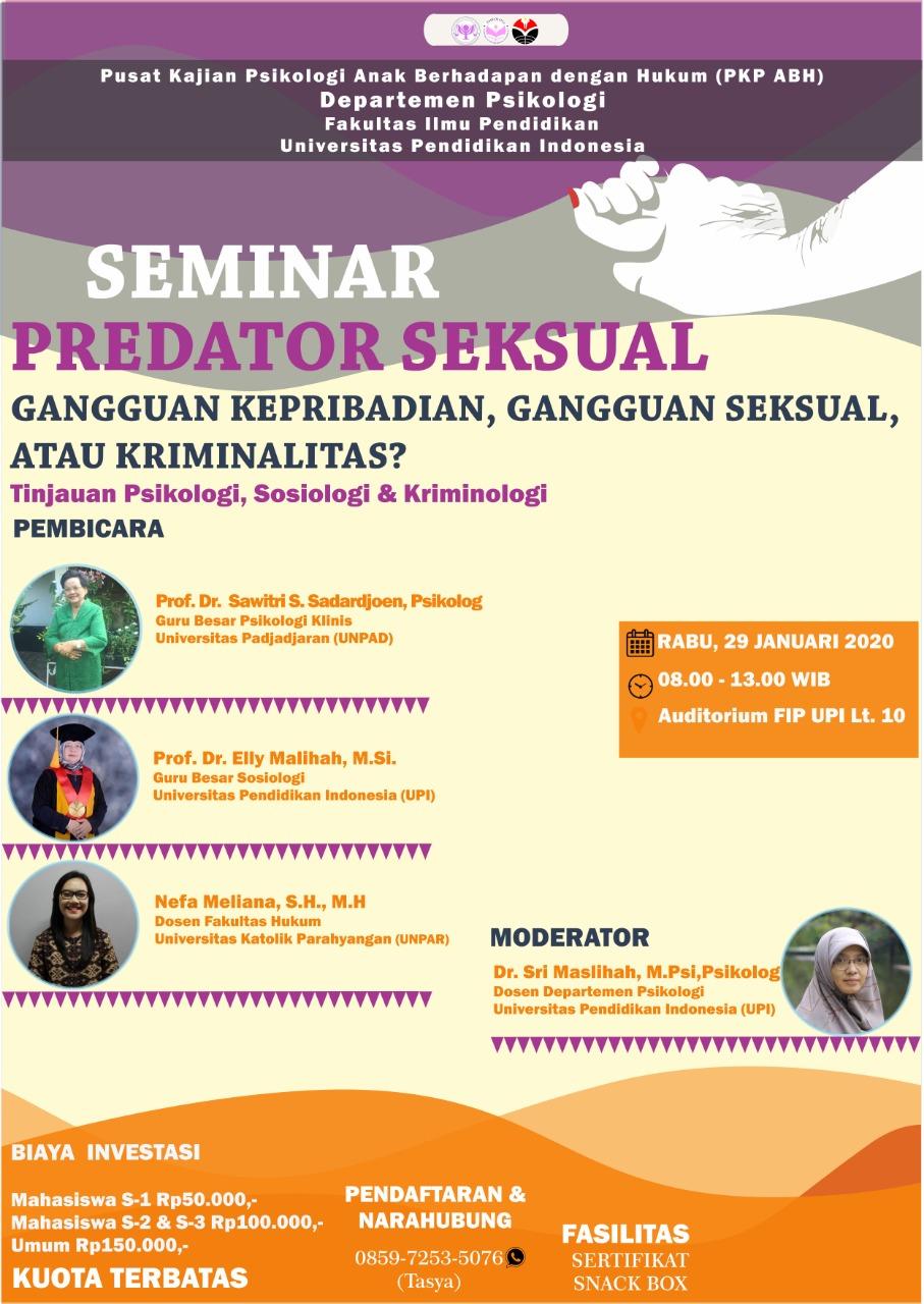 Seminar Predator Seksual