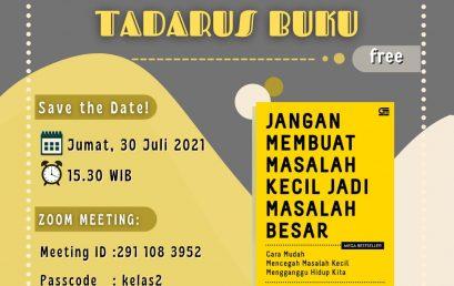kegiatan Tadarus Buku Jum'at, 30 Juli 2021.